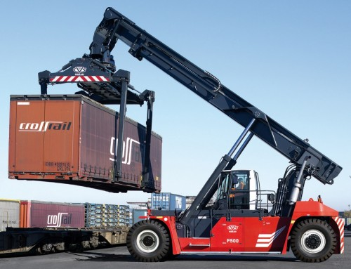 DOZEN OF CVS FERRARI INTERMODAL REACH STACKERS BOOST THE BUSINESS OF ITALIAN RAILWAYS