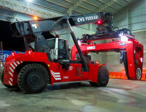 BOLIVIAN UREA EXPORT RELIES ON CVS FERRARI SPECIALLY EQUIPPED REACH STACKERS