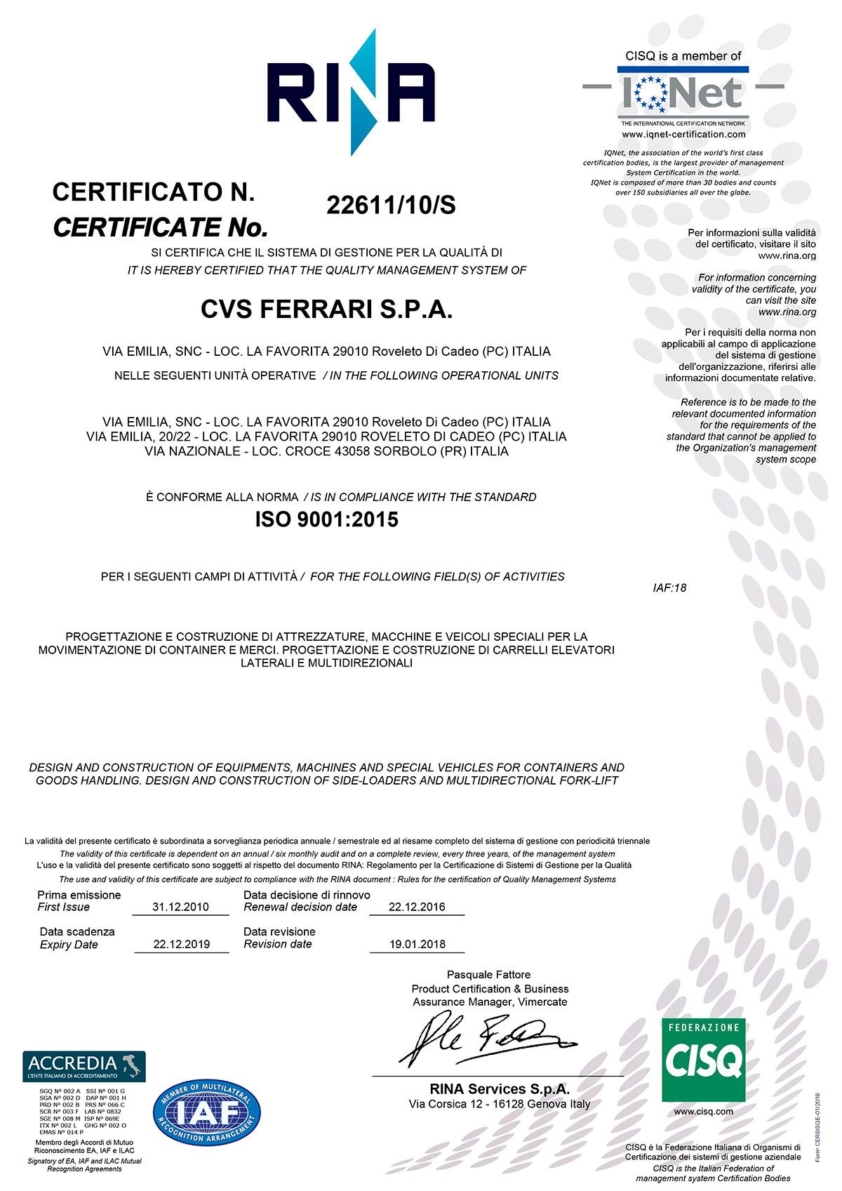 objectives of ferrari company