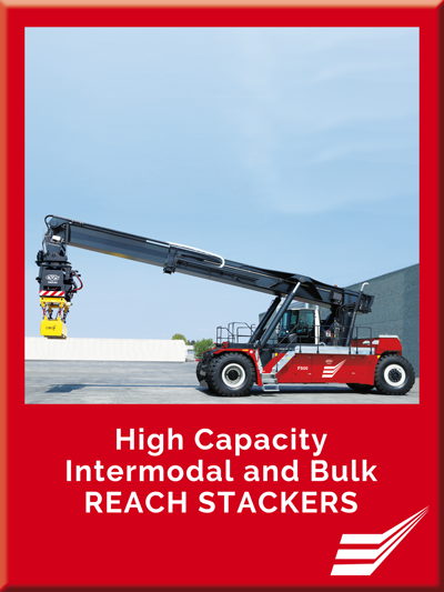 High Capacity Intermodal and Bulk REACH STACKERS