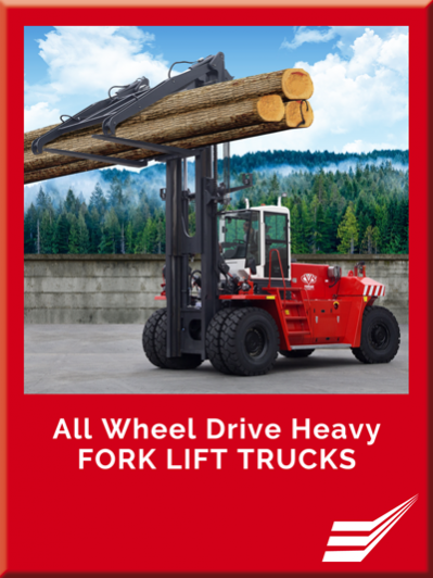 All Wheel Drive heavy fork lift