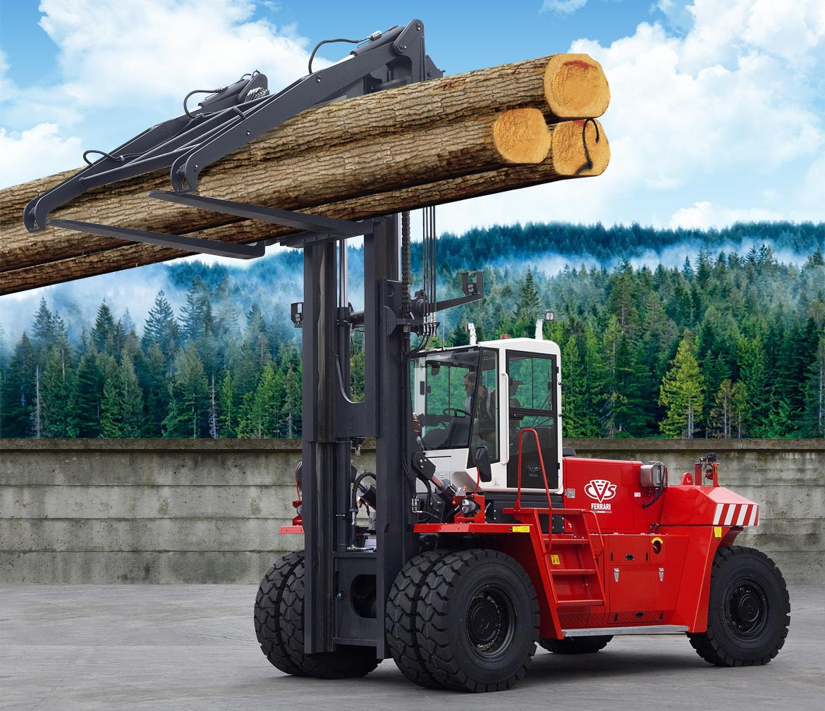 CVS FERRARI - All wheel drive heavy fork lift