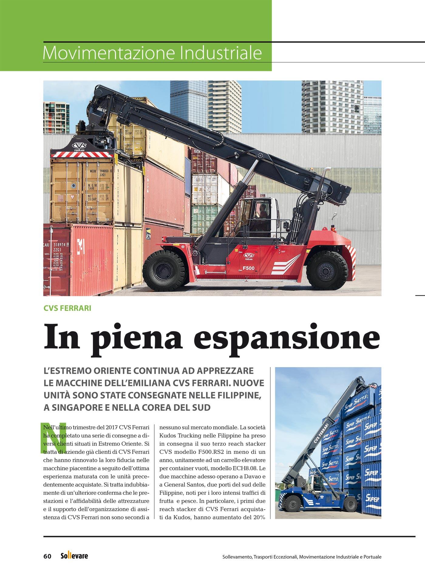 In the press - CVS ferrari sollevare april 2018